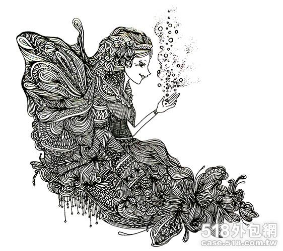 《插画黑白线稿》仅线稿绘制