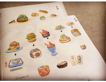 手繪食物形象圖