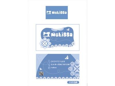 melissa 日韓服飾LOGO名片設計