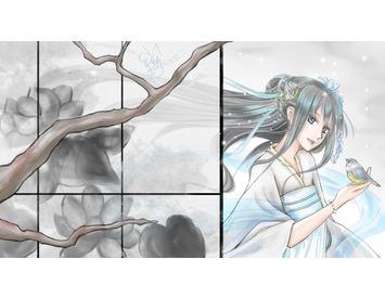 電腦日式漫畫繪圖-彩稿