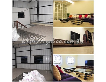 天花板、地板、隔間、櫃台、造型牆