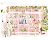 手繪質感地圖、生活機能圖繪製設計-布蘭達小皮箱BrendaSuitcase