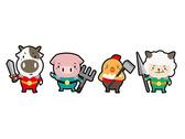 生鮮肉品公司吉祥物Q版提案