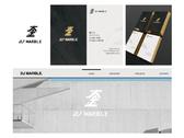 DJ 大金石材 logo/bizcard