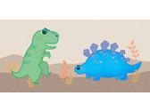 恐龍插畫設計