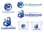 icediamond冰甜品店logo設計