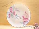 瓷盤設計 - 水彩風