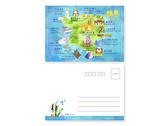 綠島明信片插畫設計