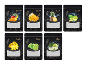 水果乾包裝袋系列設計黑
